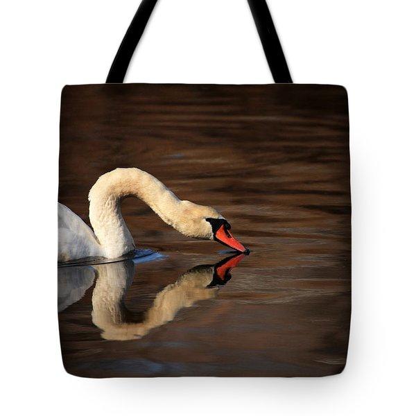 Swan Reflects Tote Bag