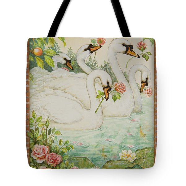 Swan Romance Tote Bag by Lynn Bywaters