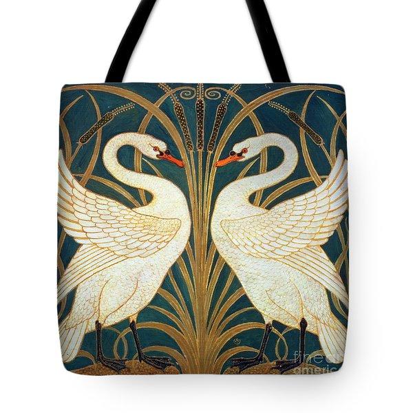 Swan Rush And Iris Tote Bag