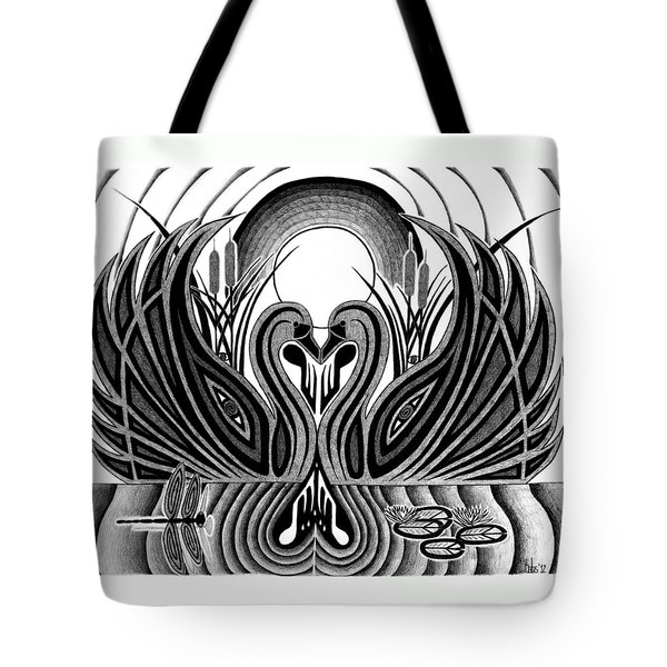 Swan Song  Tote Bag by Barb Cote