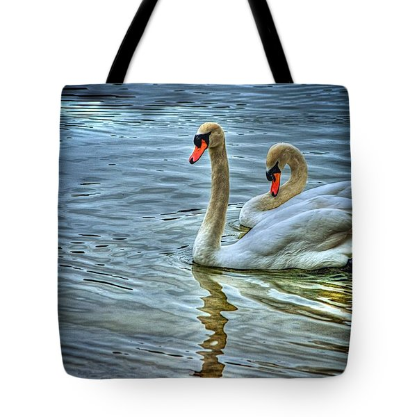 Swan Song Tote Bag by Dennis Baswell