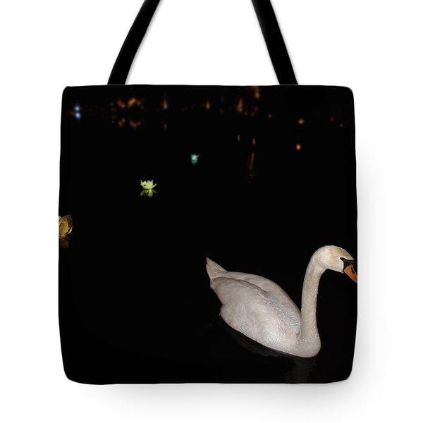 Swan Song - Flower Lanterns Tote Bag