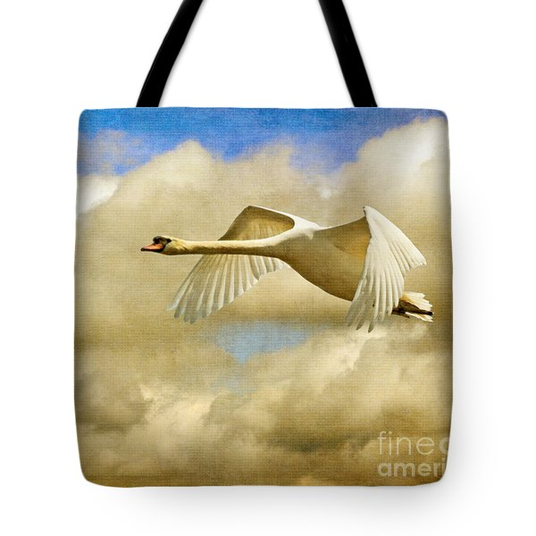 Swan Song Tote Bag by Lois Bryan