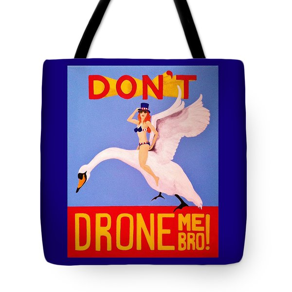 Tote Bag featuring the painting Swan Song by Rand Swift