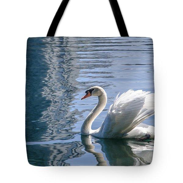 Swan Tote Bag by Steven Sparks