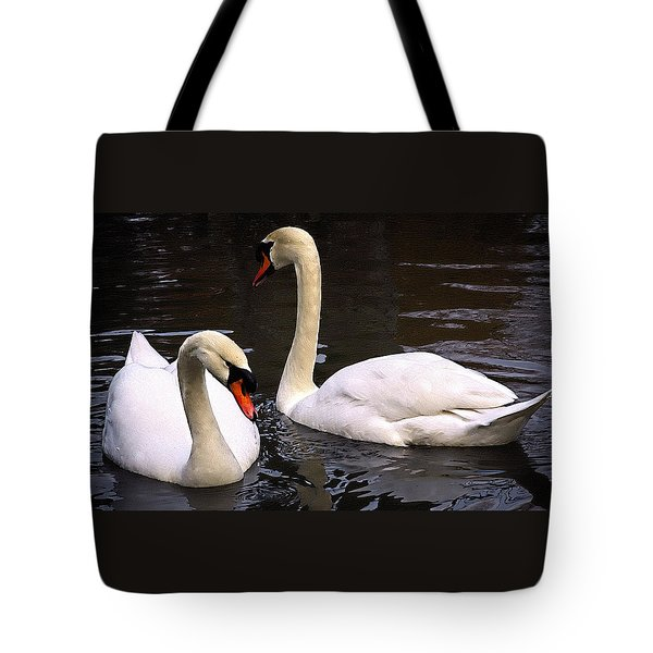 Swan Two Tote Bag by Elf Evans