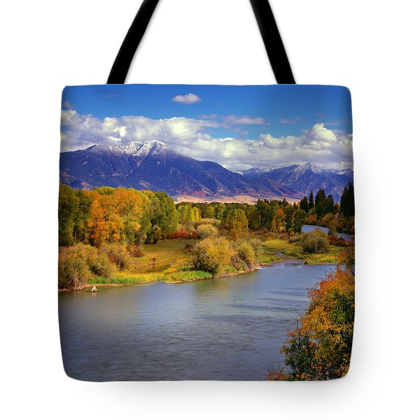 Swan Valley Autumn Tote Bag by Leland D Howard