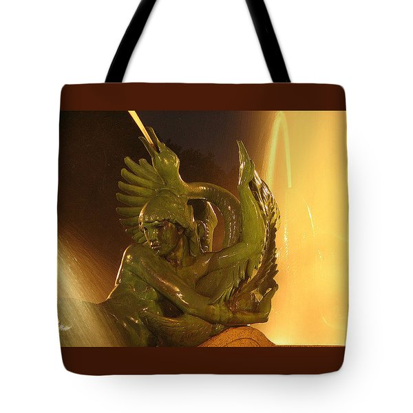 Tote Bag featuring the photograph Swann Fountain by Christopher Woods