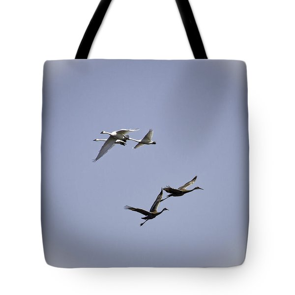 Swans And Sandhills Tote Bag