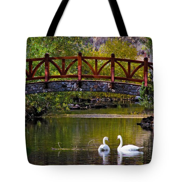 Tote Bag featuring the photograph Swans At Caughlin Ranch II by Janis Knight