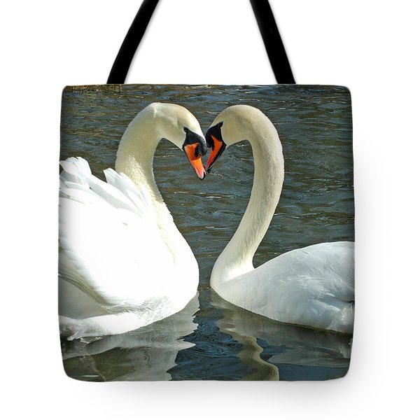 Tote Bag featuring the photograph Swans At City Park by Olivia Hardwicke
