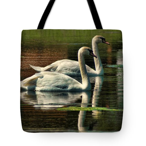 Swans Cruising Tote Bag