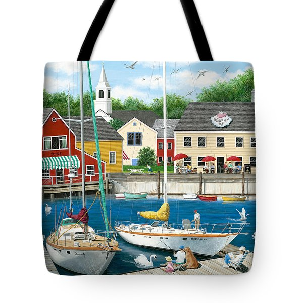 Swans Haven Tote Bag by Wilfrido Limvalencia