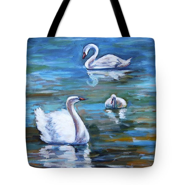 Swans Tote Bag by Alexandra Maria Ethlyn Cheshire