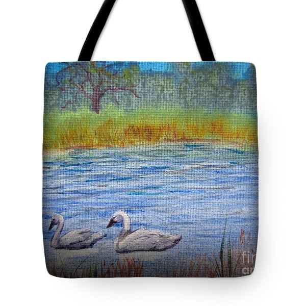 Swans Tote Bag by Laurianna Taylor