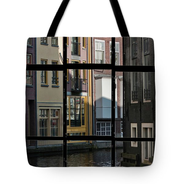 Swans Love Amsterdam Tote Bag by Joan Carroll