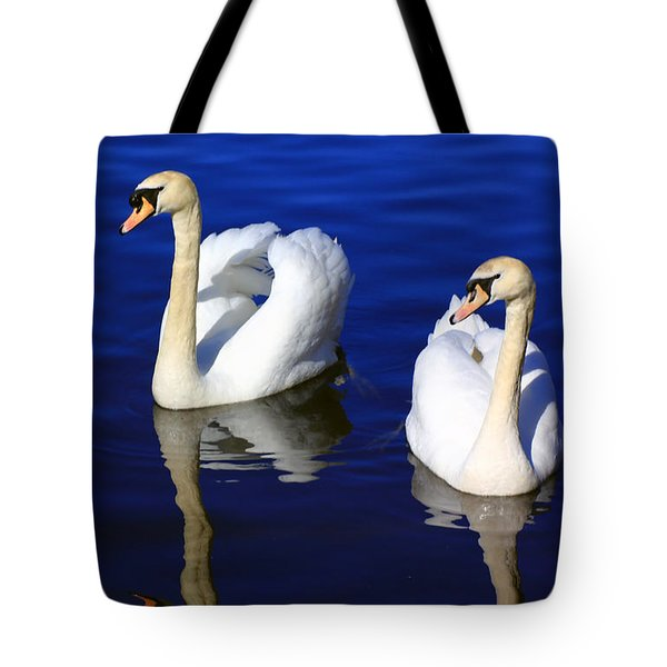 Swans On The Lake Tote Bag