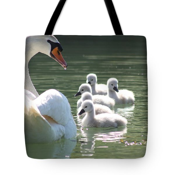 Swans  Tote Bag by Rogerio Mariani