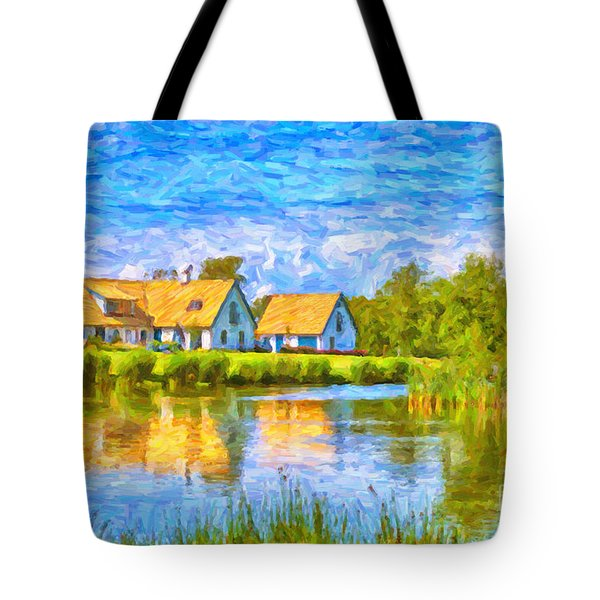 Swedish Lakehouse Tote Bag by Antony McAulay