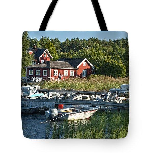 Swedish Summer Tote Bag by Nancy De Flon