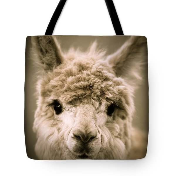 Sweet Alpaca Tote Bag