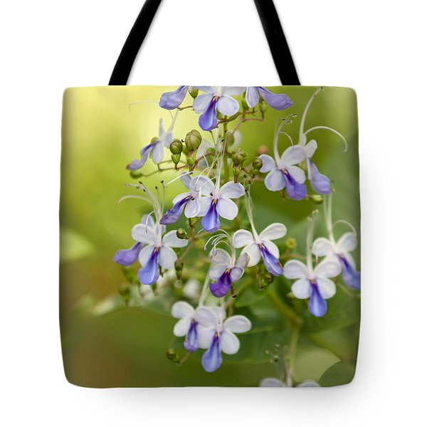 Sweet Butterfly Flowers Tote Bag