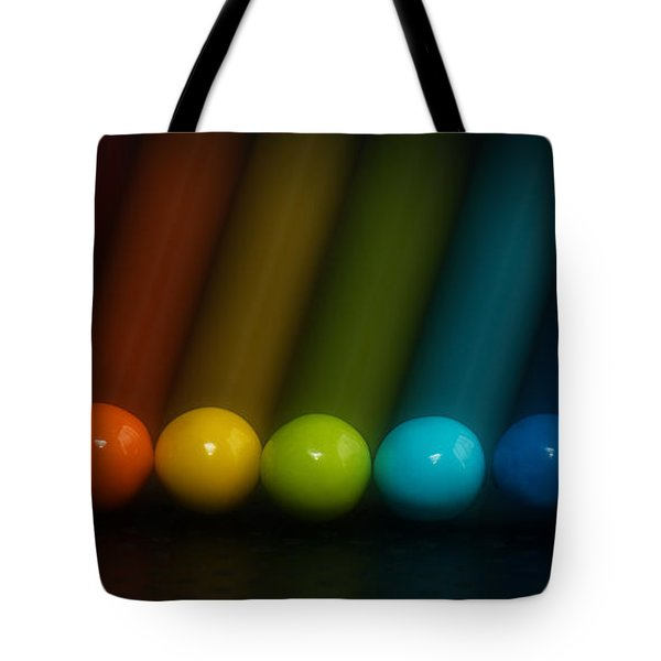 Tote Bag featuring the photograph Sweet Candy Rainbow by Lisa Knechtel