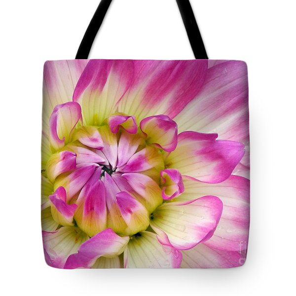 Sweet Dahlia Tote Bag by Sami Martin