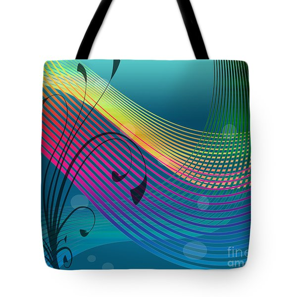 Tote Bag featuring the digital art Sweet Dreams Abstract by Megan Dirsa-DuBois