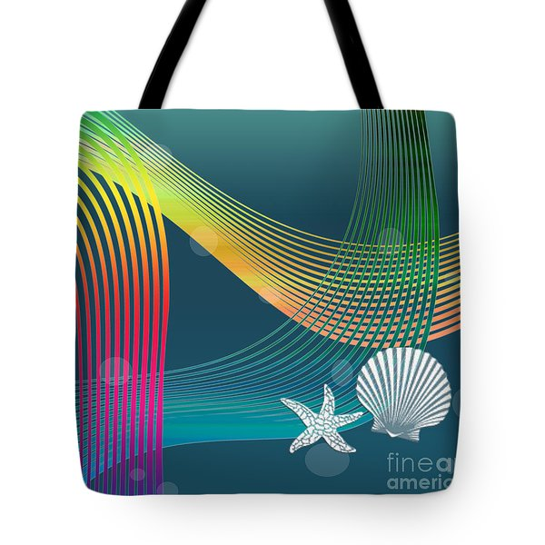 Tote Bag featuring the digital art Sweet Dreams2 Abstract by Megan Dirsa-DuBois