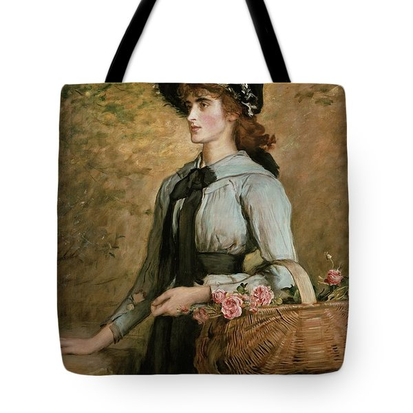 Sweet Emma Morland Tote Bag by Sir John Everett Millais