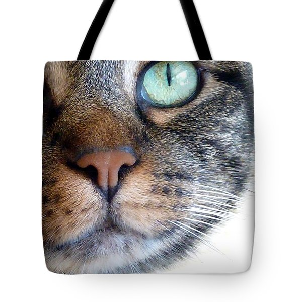 Sweet Green Eyes Tote Bag by Patricia Strand