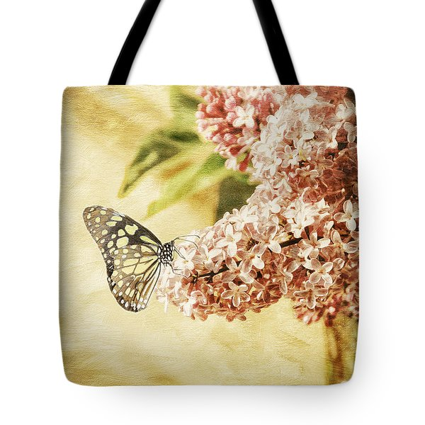 Sweet Lilacs Tote Bag by Lois Bryan