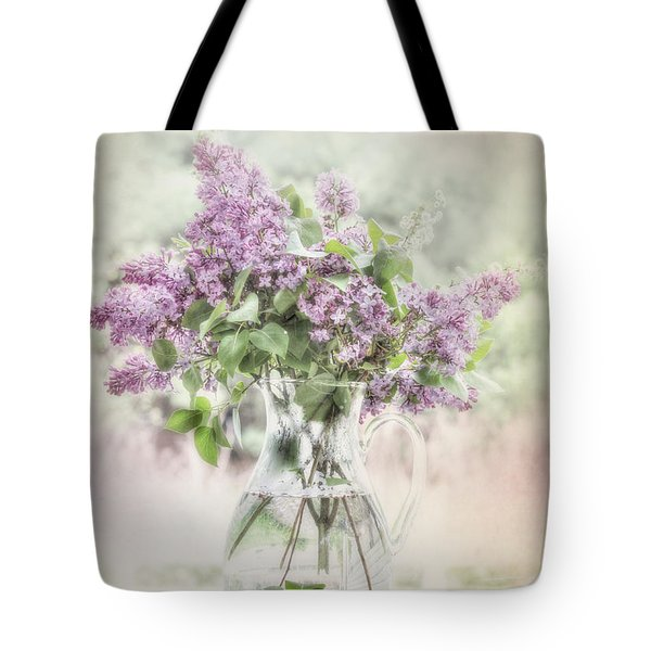 Sweet Lilacs Tote Bag by Lori Deiter