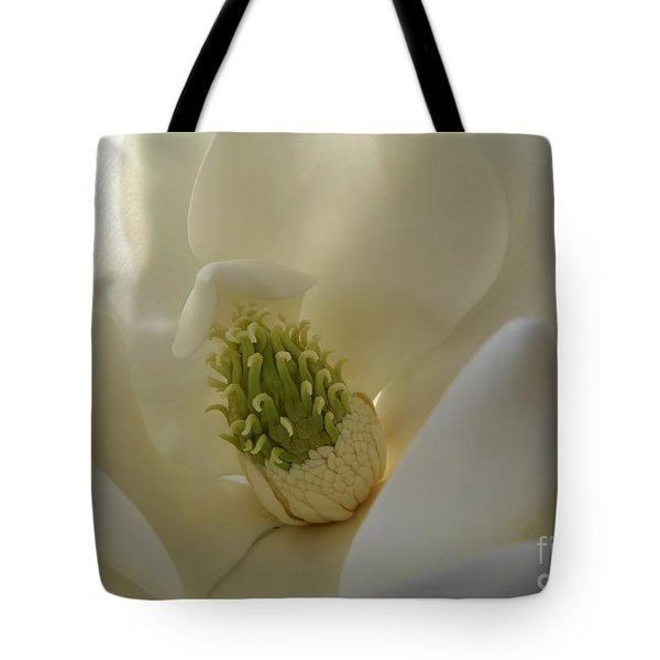 Sweet Magnolia Tote Bag by Peggy Hughes