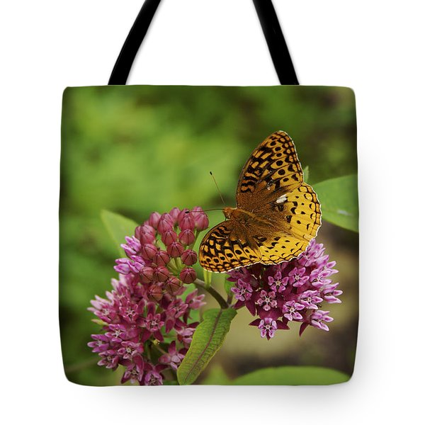 Sweet Nectar - Butterfly On Milkweed Art Print Tote Bag by Jane Eleanor Nicholas