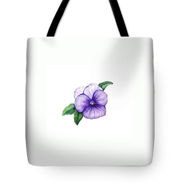 Tote Bag featuring the painting Sweet Pansy by Heidi Kriel