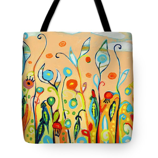 Sweet Peas And Poppies Tote Bag by Jennifer Lommers