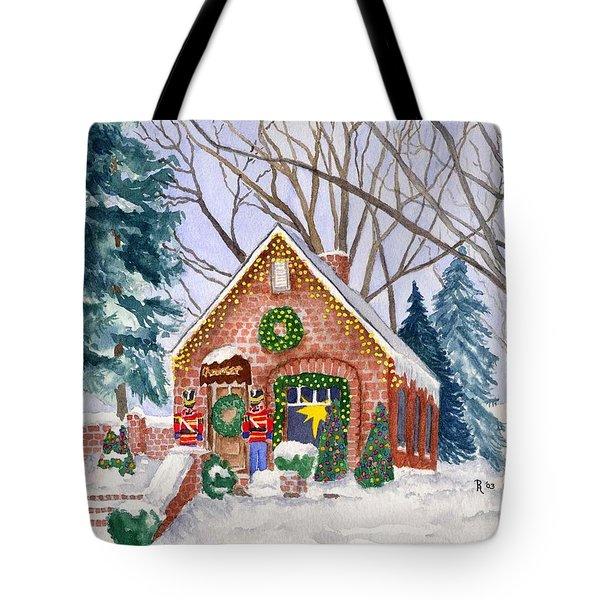 Sweet Pierre's Chocolate Shop Tote Bag by Rhonda Leonard