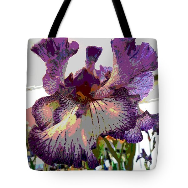 Sweet Purple Tote Bag by Sally Simon