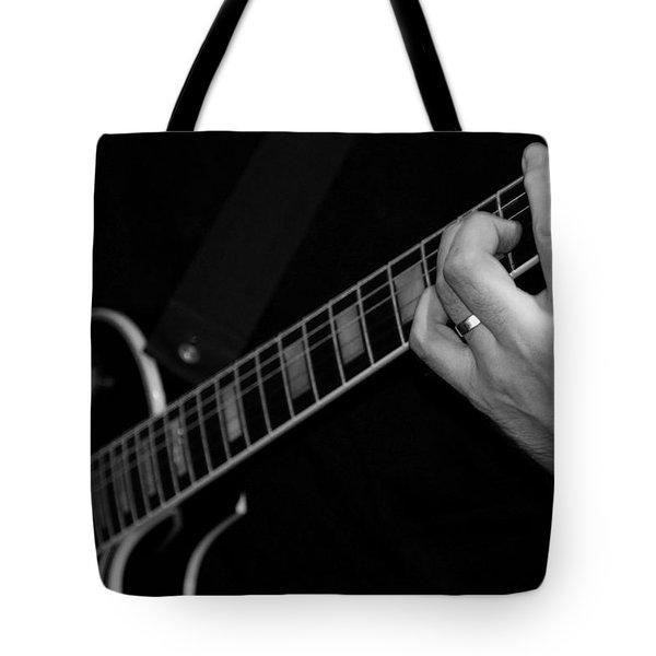Sweet Sounds In Black And White Tote Bag by John Stuart Webbstock