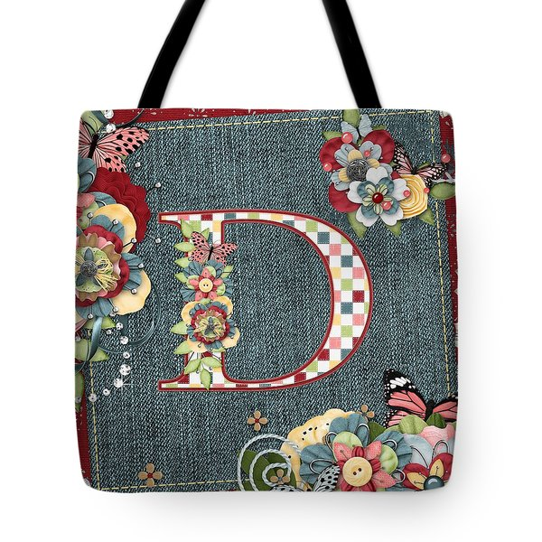 Sweet Surprises Monogram Letter  D Tote Bag by Debra  Miller