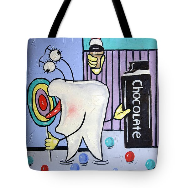 Tote Bag featuring the painting Sweet Tooth by Anthony Falbo