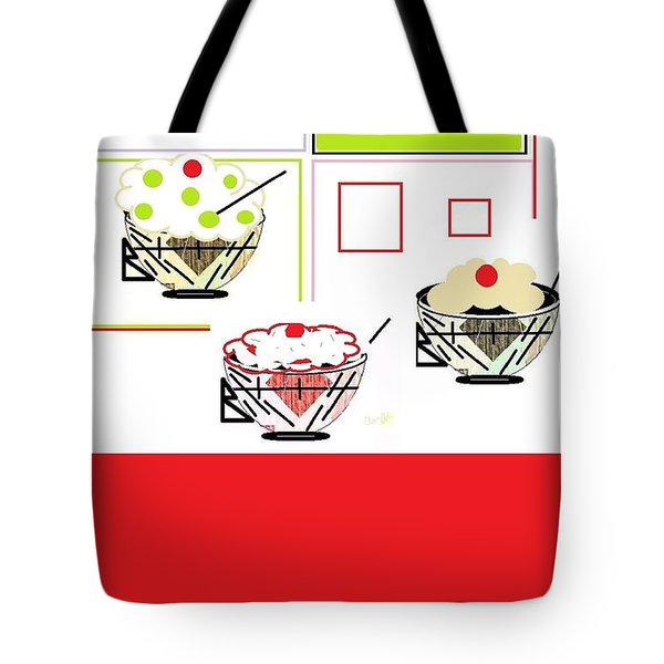 Tote Bag featuring the digital art Sweet Tooth by Ann Calvo