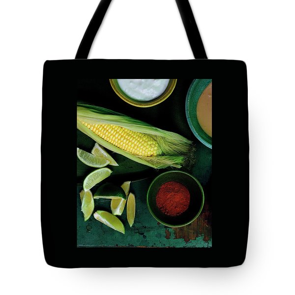 Sweetcorn And Limes Tote Bag
