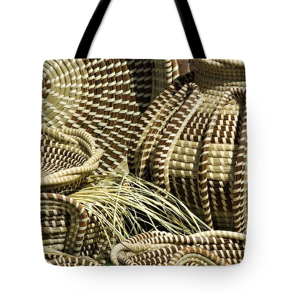Sweetgrass Baskets - D002362 Tote Bag by Daniel Dempster
