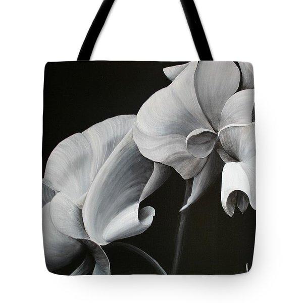 Sweetpea Blossoms Tote Bag
