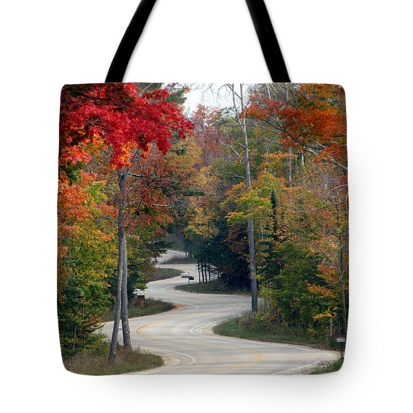 Swervy Road At North Port Tote Bag