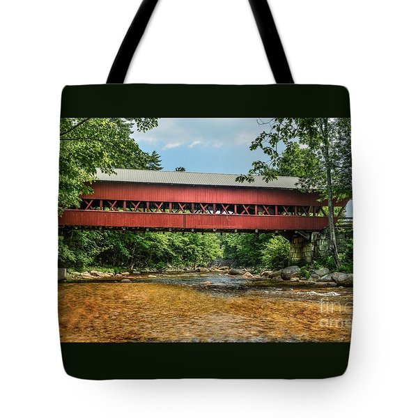 Tote Bag featuring the photograph Swift River Covered Bridge Hew Hampshire by Debbie Green