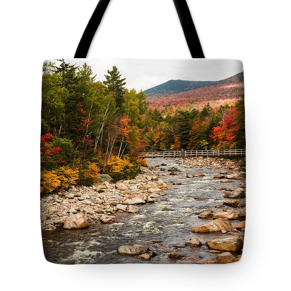 Swift River Painted With Autumns Paint Brush Tote Bag